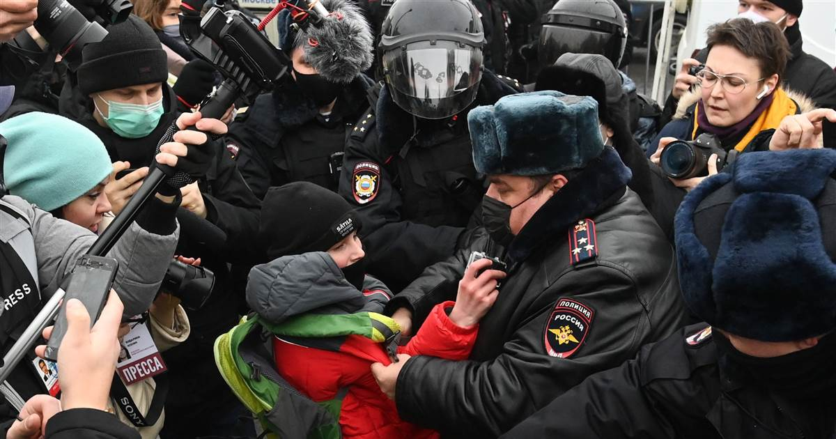 Hundreds detained as protests called by Putin foe erupt across Russia