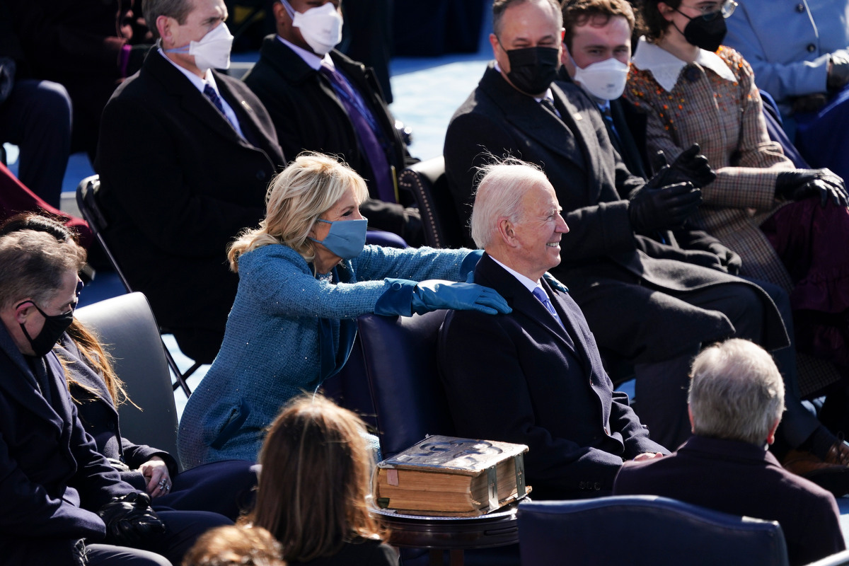 'It just symbolizes everything': Bidens bring presidential PDA back to the White House