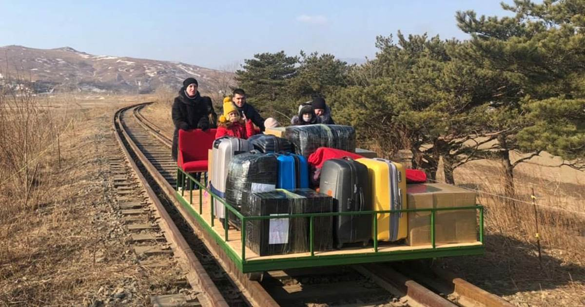Russian diplomats leave North Korea by hand-pushed railcar after Covid shuts travel, borders