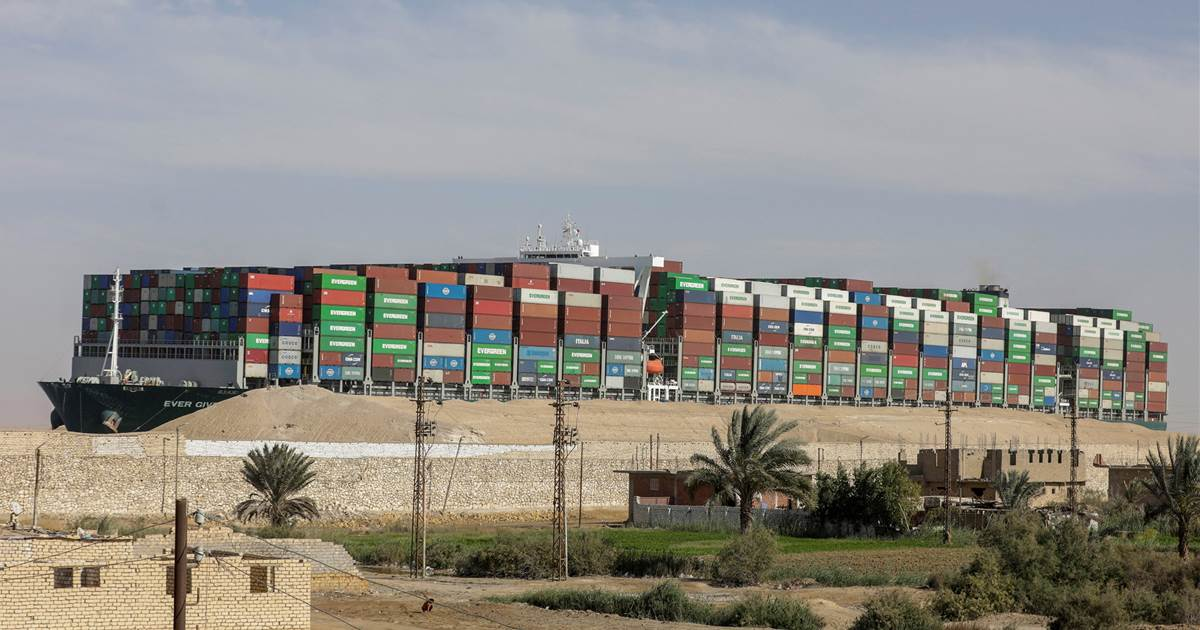 Dislodged cargo ship held in Suez Canal as owners wrangle over $916 million claim